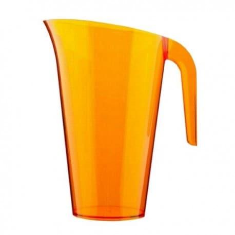 Carafe plastique orange 1.5 L réutilisable