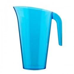 Carafe plastique 1.5 L empilable et réutilisable couleur bleu turquoise