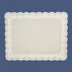 Dentelle blanche papier rectangulaire 34 x 26 cm par 100