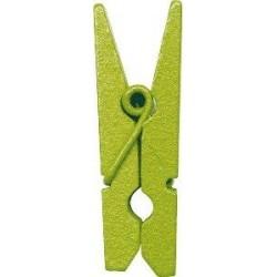 Mini-pince vert anis en bois 2.5 cm par 24
