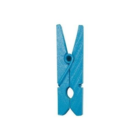 Mini-pince turquoise en bois 2.5 cm par 24