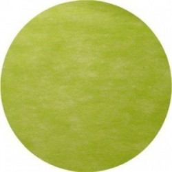 Nappe jetable ronde vert anis 2.40 m