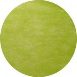 Nappe ronde Ø 2.40 m jetable intissé airlaid vert kiwi