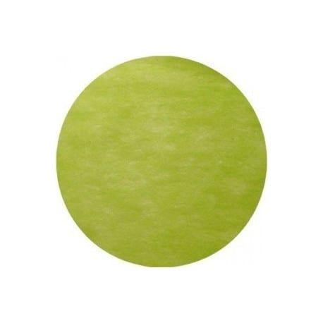 Nappe jetable ronde Ø 2.40 m intissé airlaid vert kiwi