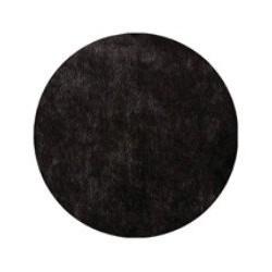 Nappe papier jetable ronde noire en intissé diamètre 2.40 m