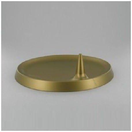 Assiette Lux By Starck ronde 23 cm bronze par 25