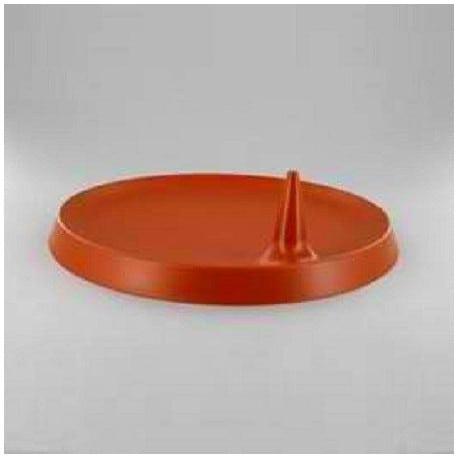 Assiette Lux By Starck plastique jetable ronde 23 cm terracotta par 25