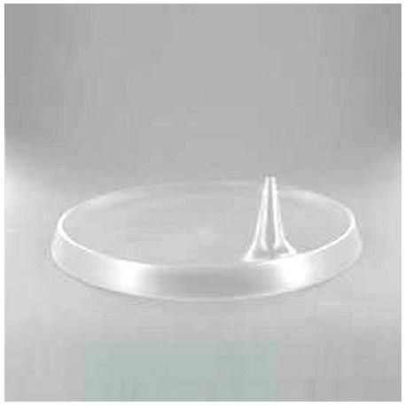 Assiette Lux By Starck plastique jetable ronde 23 cm translucide par 25