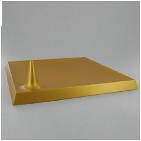 Assiette Lux By Starck plastique jetable carrée 24 cm Or par 25