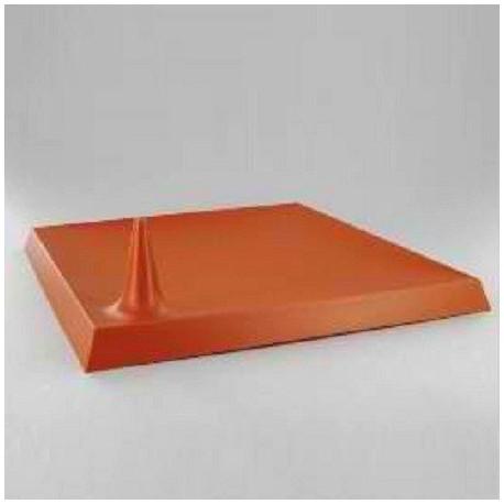 Assiette carrée plastique jetable Starck terracotta par 25