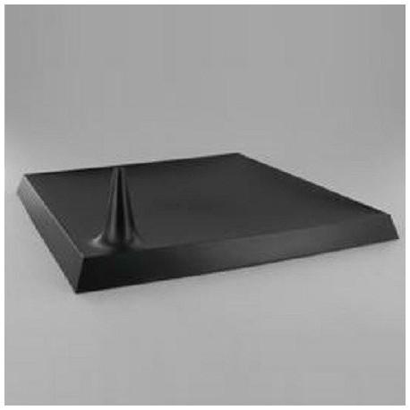 Assiette Lux By Starck plastique jetable carrée 24 cm noire par 25