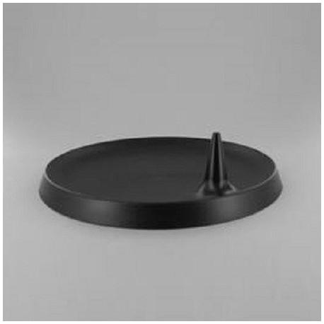 Assiette Lux By Starck plastique jetable ronde 23 cm noire par 25