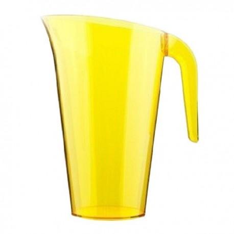 Carafe plastique jaune 1.5 L réutilisable
