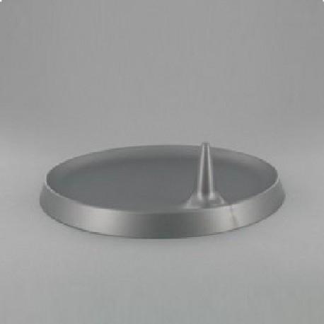 Assiette Lux By Starck plastique jetable ronde 23 cm argent par 25