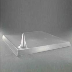 Assiette Lux By Starck plastique jetable carrée 24 cm translucide par 25