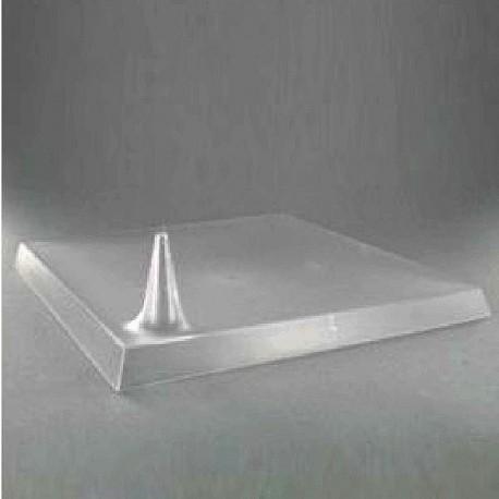 Assiette carrée 24 cm transparente réutilisable Starck