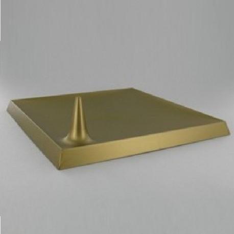 Assiette Lux BY Starck plastique jetable carrée 24 cm bronze par 25