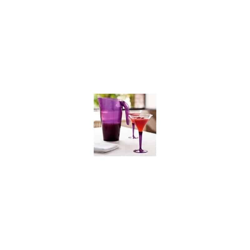 verre cocktail plastique jetable pied aubergine par 6 verres tasses adiserve. Black Bedroom Furniture Sets. Home Design Ideas