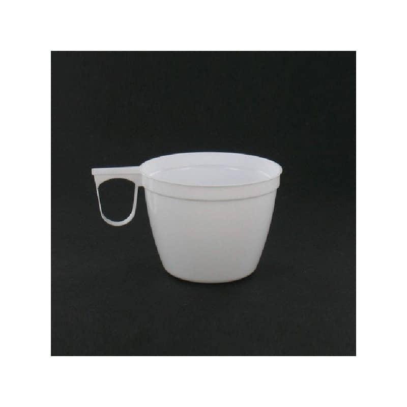 tasse caf blanche avec anse 15 cl par 40 gobelets. Black Bedroom Furniture Sets. Home Design Ideas