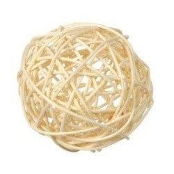 Boules décoratives ivoire en rotin par 10, 3 dimensions
