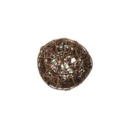 Boules décoratives marron rotin par 10, 3 dimensions