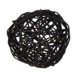 Boules décoratives noires en rotin par 10, 3 dimensions