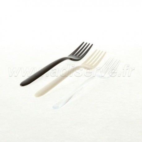 Fourchette Luxe transparente plastique jetable par 50