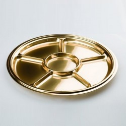 PLAT ROND 6 COMPARTIMENTS OR 30CM