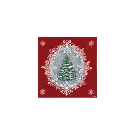 Serviette jetable Sapin rouge 40 cm par 20