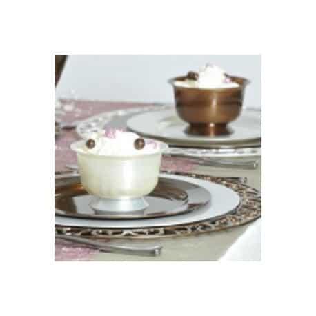 Coupe dessert plastique chocolat 200 ml par 12
