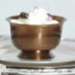 Coupe dessert réutilisable coloris chocolat