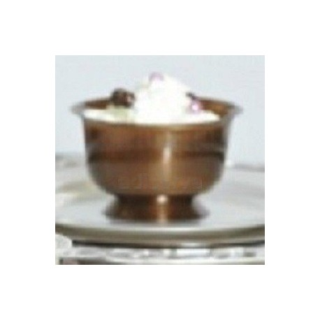 Coupe dessert plastique chocolat 200 ml par 12