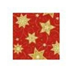 Serviette jetable rouge et Or 25 cm par 60