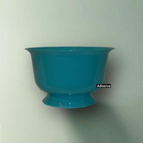 Coupe à dessert bleu turquoise, contenance de 200 ml