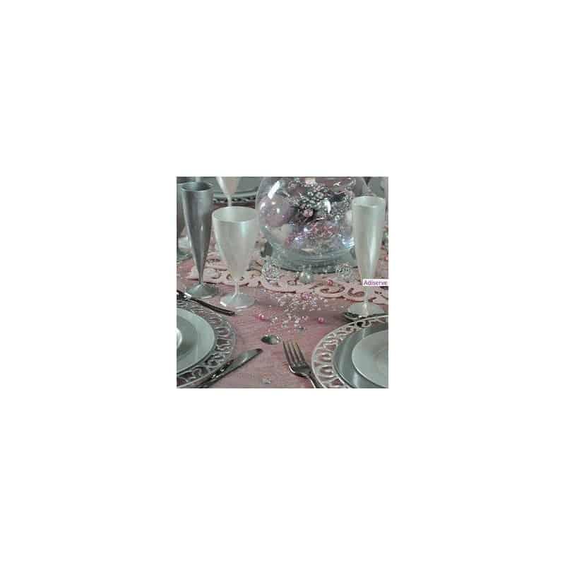 fl te champagne en plastique argent par 10 fl tes champagne en plastique adiserve. Black Bedroom Furniture Sets. Home Design Ideas