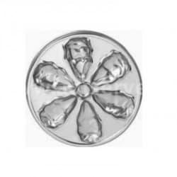 Assiette à huîtres jetable de présentation ronde 26 cm argent par 4