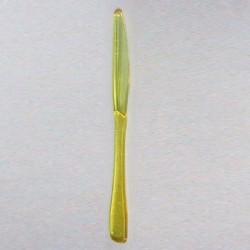 Couteau plastique jetable jaune très rigide par 40 ou 100
