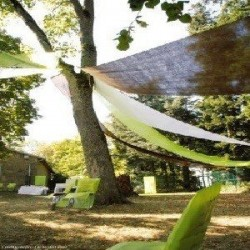 Tenture de salle vert anis 12 mètres