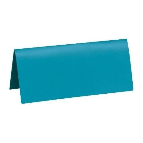 Marque place turquoise 3 x 7 cm par 10