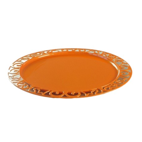 sous-assiette ronde orange 30 cm par 4