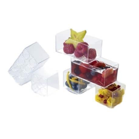 Verrine OLEG empilable carrée ou rectangulaire