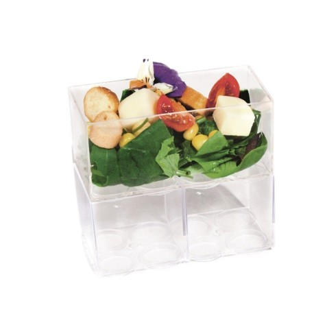 Verrine OLEG empilable carrée 6 cl ou rectangulaire 12 cl