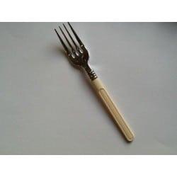 Fourchette jetable plastique argent manche ivoire par 20