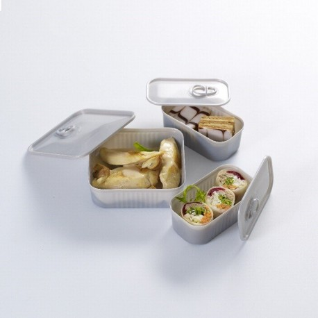 Verrine Tapas boite de conserve grise, 2 dimensions au choix