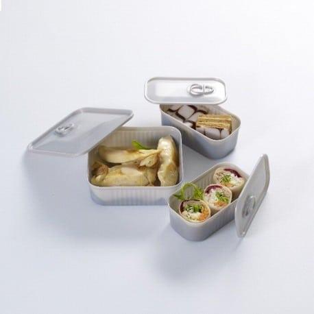 Verrine Tapas boite à sardines grise, 2 dimensions au choix
