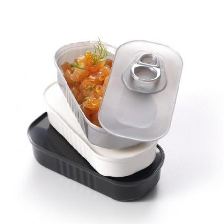 Verrine boite de sardines :Gris,blanc,noir de 6 CL
