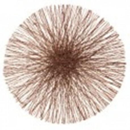 Set de table rond marron en sinamay 34 cm par 4