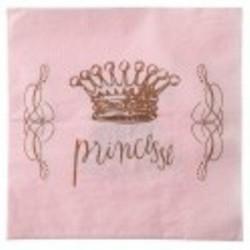 Serviette princesse rose 33 cm par 20