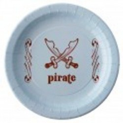 Assiette carton jetable Pirate par 6