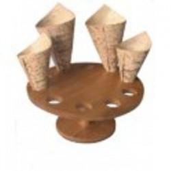 Support de présentation rond pour 10 minis cônes bambou